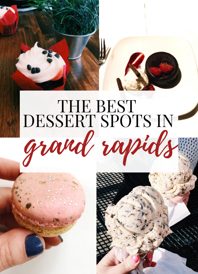 collage of dessert pictures from grand rapids