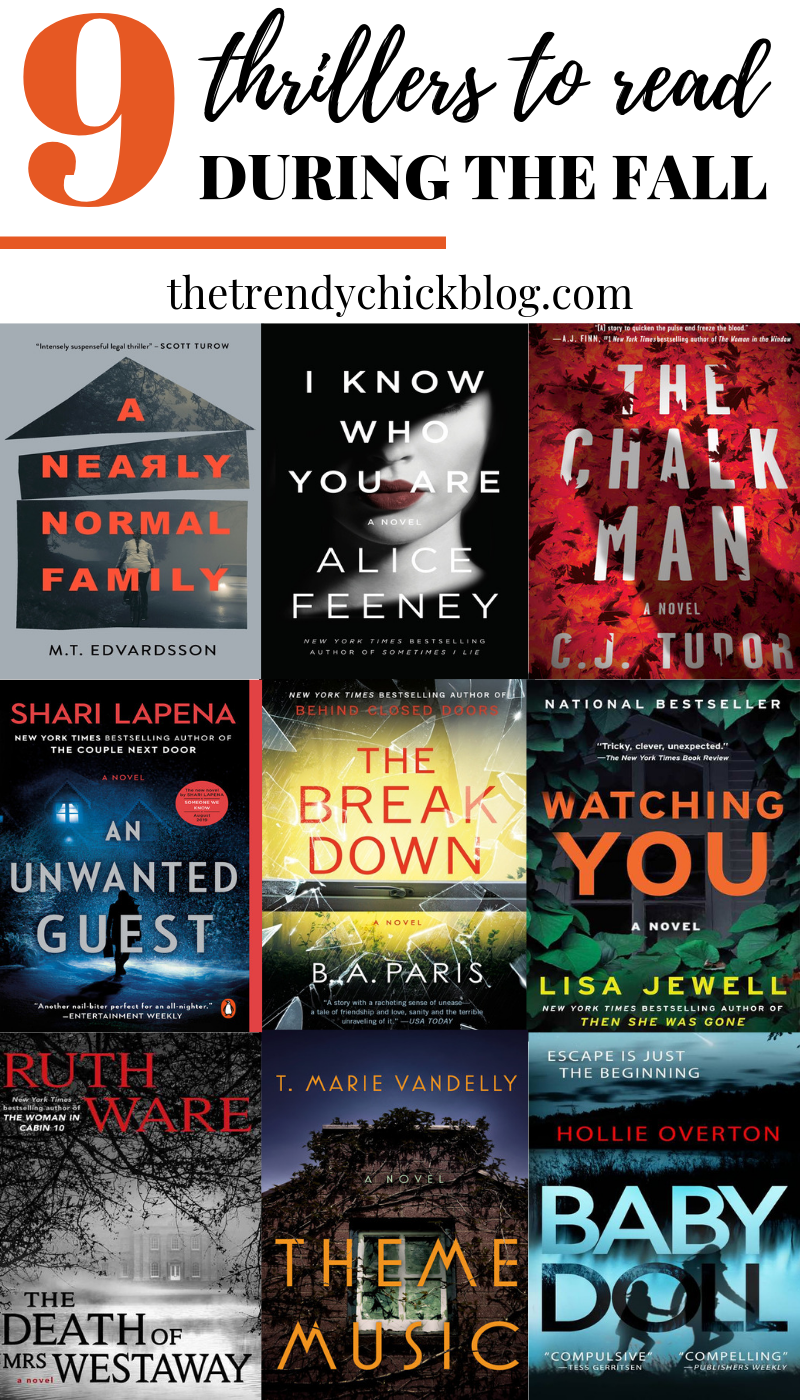 9 thrillers to read this fall