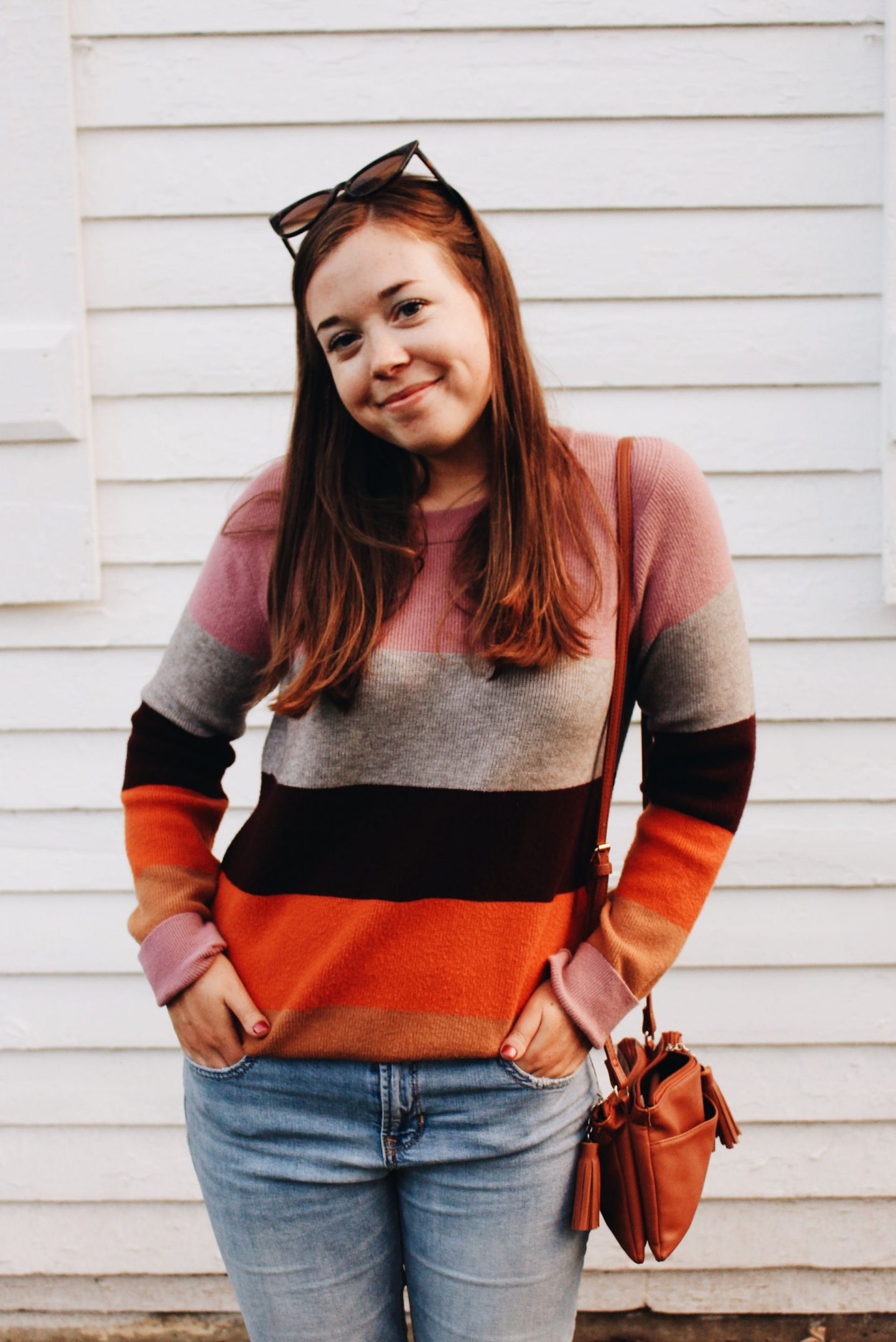 Colorful Striped Sweater: Fall 2019 Uniform