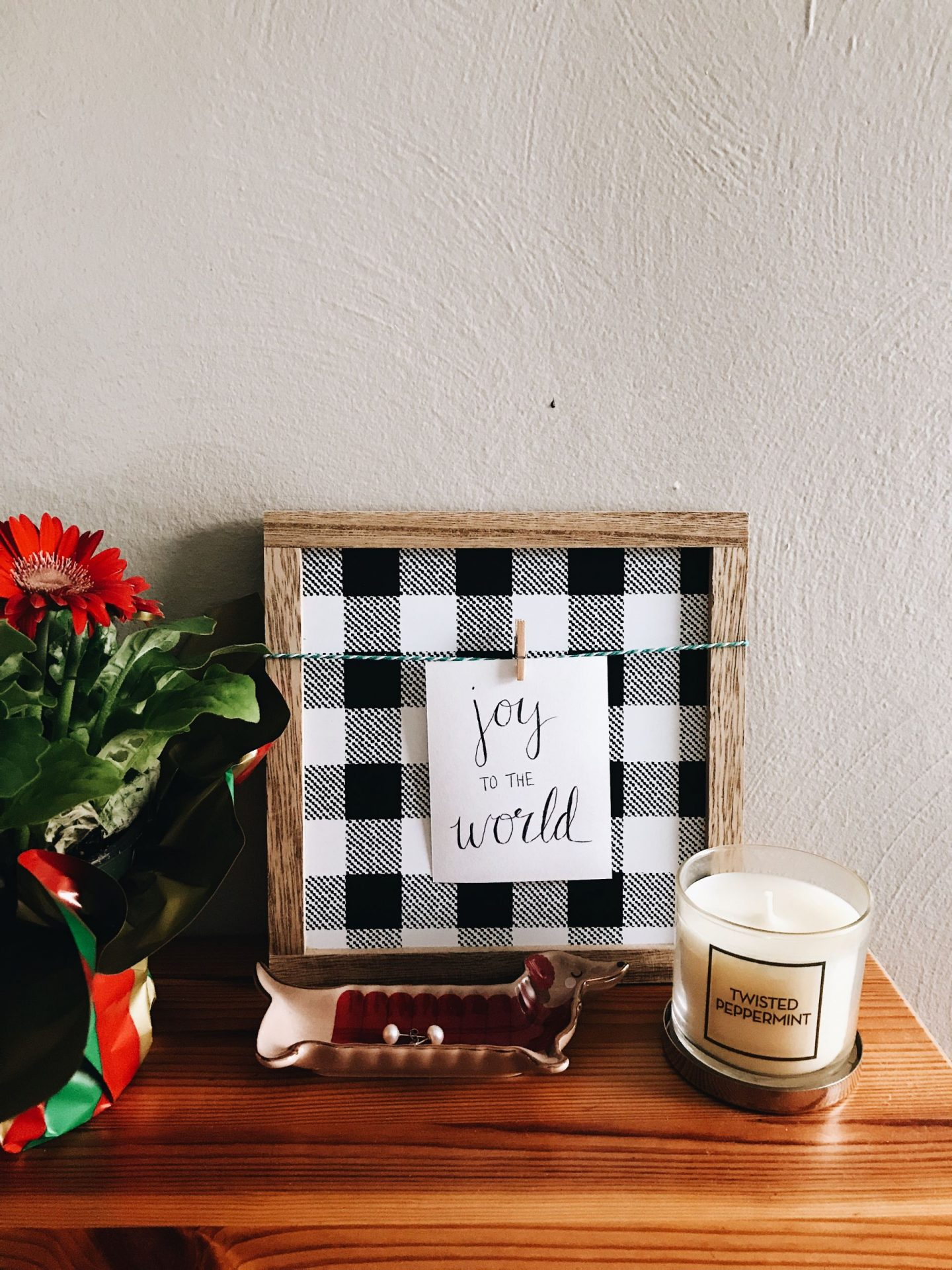 Thrift Flip: Buffalo Check Christmas Decor