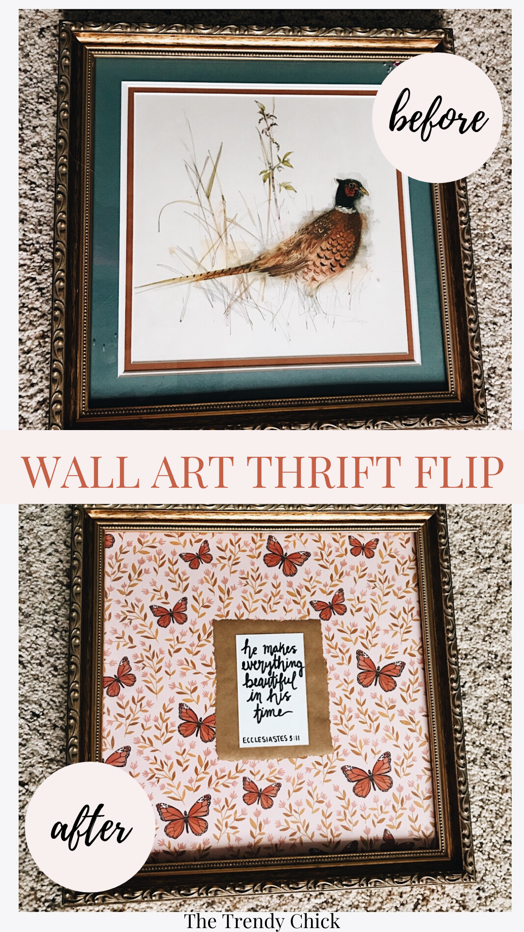 Thrift Flip: Spring Frame DIY